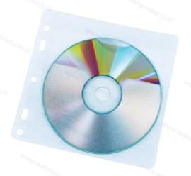 2CD/DVD pp ringbandhoesje met universele perforatie, binnenzijde gevoerd
