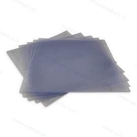 """Grammofoonplaten beschermhoes """"populair"""" voor LP's, glashelder pvc, dikte 0.14 mm."""