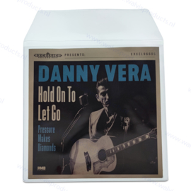 """Standard Weight 7"""" PVC Glass Clear Vinyl Record Outer Sleeve with flap, thickness 140 micron"""
