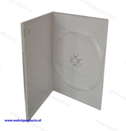 Slim (7 mm) 1-DVD box, colour: white