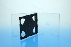 Standaard 10.4mm. 3CD doosje, met gemonteerde zwarte smart tray
