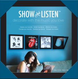 Snap Show & Listen 12-Inch Record Album Frame - black