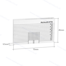 Walvis Products Azimuth VTA Protractor