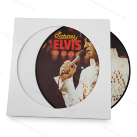 LP formaat Picture Disc kartonnen hoes, kleur: wit