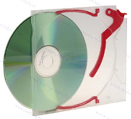 Variopac/Ejector standaard 1CD case, met rode clip