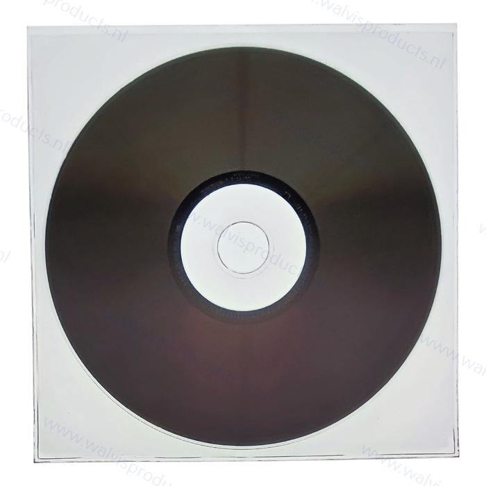1CD PVC Schutzhülle ohne Klappe, transparent (128 x 130 mm)