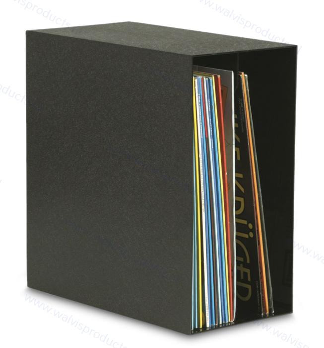 Knosti Archifix-Box zwart, voor ca. 50 LP's