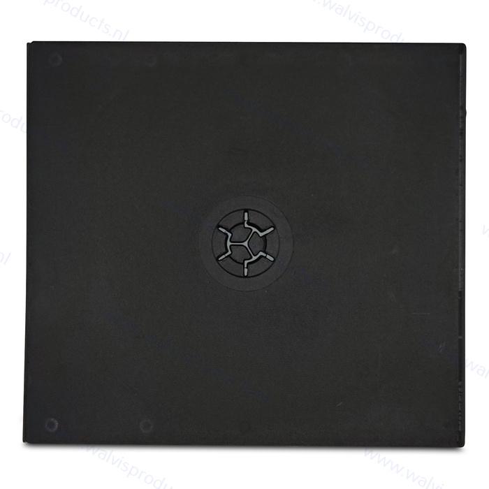 PP standaard (dikte: 9mm.) 2CD doosje, zwart