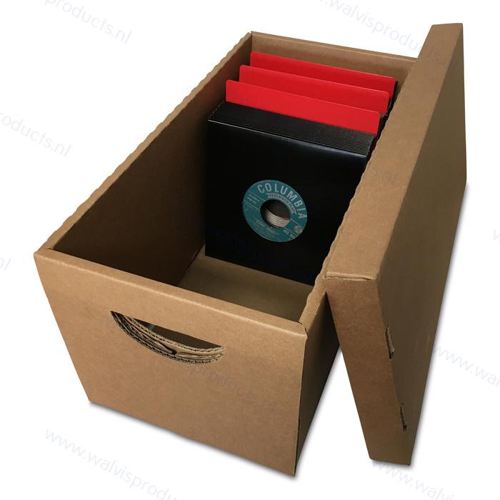 Voordeelset à 25 stuks - Advance 7-inch Archiefboxen - elk voor ca. 200 Singles - bruin golfkarton