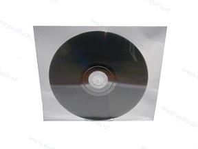 Zelfklevend (met 2 strips) PP 1CD/DVD hoesje, zonder klep, transparant