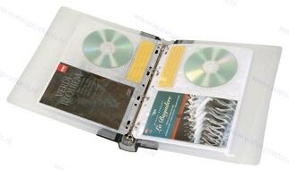 Walvis Products Ringband voor 20 DVD's en 20 DVD booklets, inclusief 10 hoezen voor elk 2 DVD's