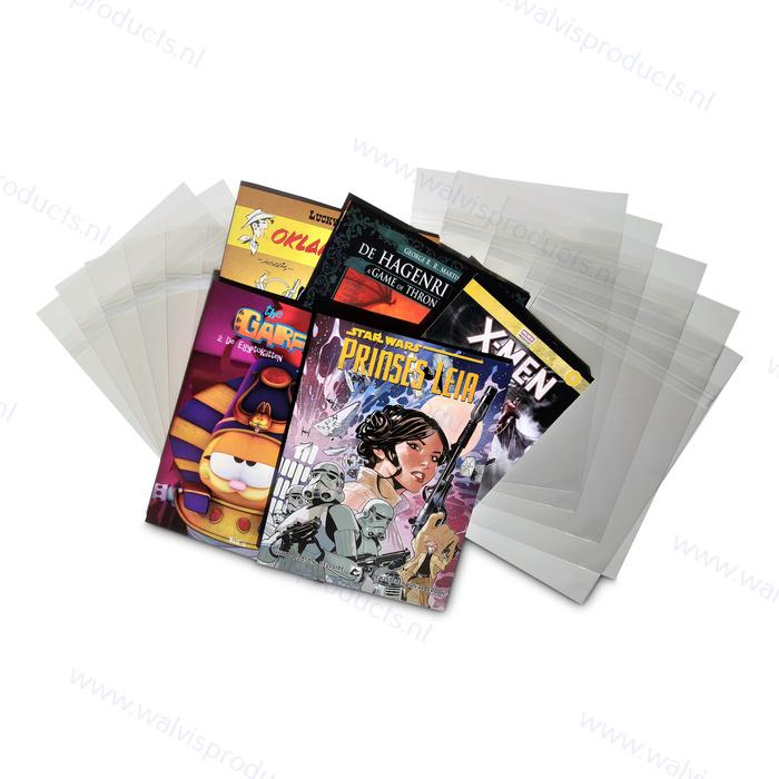 50 Stück - Schutzhüllen für Comic-Bücher - mit Verschluss - 235 x 315 mm