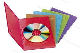 DISCOUNT PACKAGE (110 UNITS)  - Slim (7 mm) 1-DVD boxes, 5 mixed colours