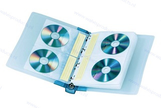 Walvis Products Ringband voor 40 CD's/DVD's, inclusief 10 hoezen voor elk 4 CD's/DVD's