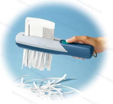 Innodesk Papiervernietiger (paper shredder), werkt op batterijen