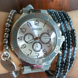 Grey Hematite watch set