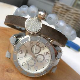 Horloge set light grey shine