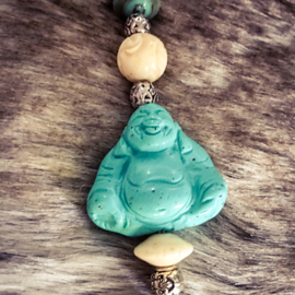 Happy Buddha turquoise