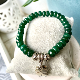 Facet green stones Jade