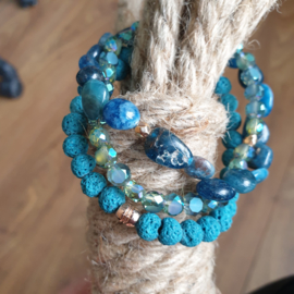 Drie keer turquoise