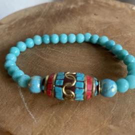 Tibetaanse kraal turquoise