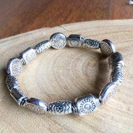 Zilver kralen armband