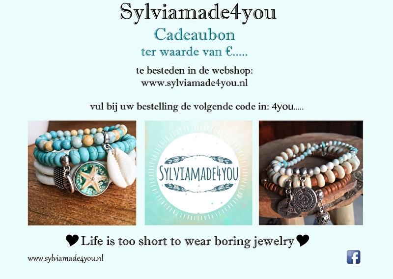 Cadeaubon Sylviamade4you  €25,--
