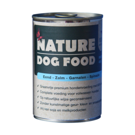 Nature Dog Food blikvoeding eend, zalm, garnaal & spinazie 400 gr