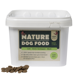 Nature Dog Food lam & Munt 1,4 kg