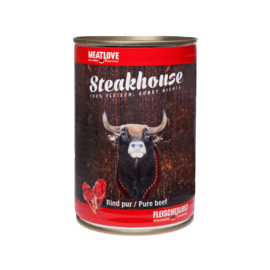 Steakhouse blik puur rund 410 gr