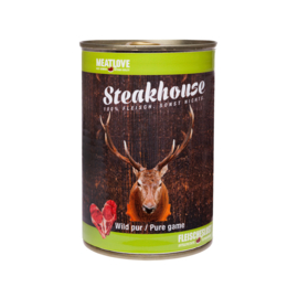 Steakhouse blik puur wild 410 gr