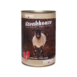 Steakhouse blik puur lam 410 gr