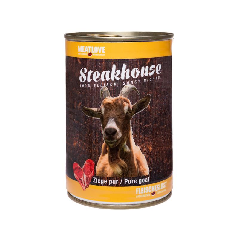 Steakhouse blik puur geit 410 gr