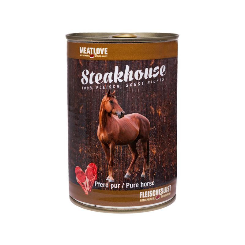 Steakhouse blik puur paard 410 gr