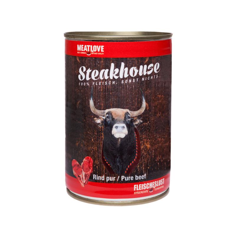 Steakhouse blik puur rund 410 gr