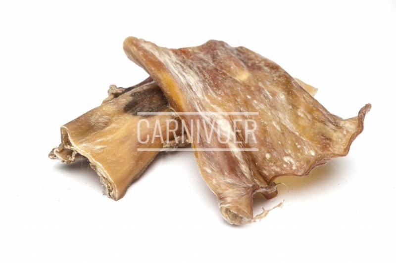 Carnivoer Runderkophuid extra hard plat 250 gr