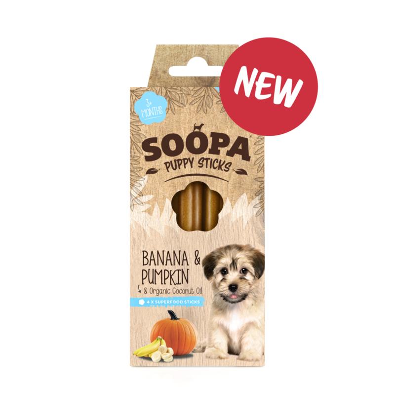 Soopa Dental Sticks Puppy - Banaan & Pompoen