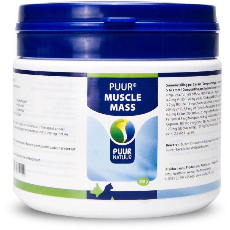 Puur Muscle mass / Spieropbouw 250 gr