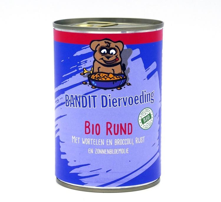 Bandit biologische blikvoeding rund 400 gr