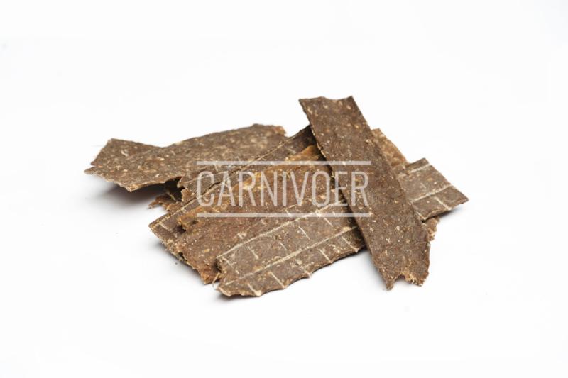 Carnivoer kangoeroevlees strips 125 gr