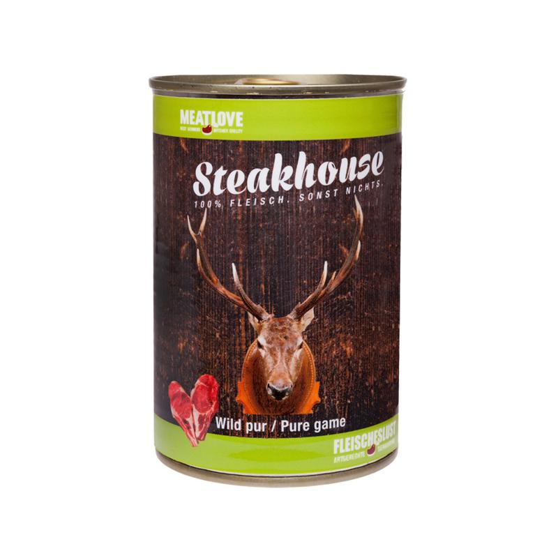 Steakhouse blik puur wild 410 gr