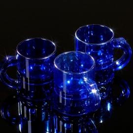 Shotglaasjes 2,5cl. transparant blauw 10 stuks