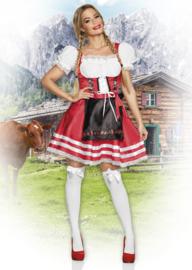Helena tiroler jurkje rood