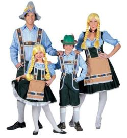 Tiroler shirt blauw / wit