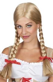 Pruik Heidi oktoberfest blond