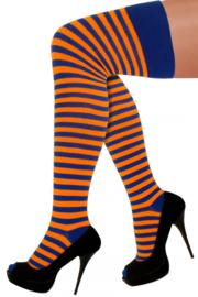 Kniekousen oranje blauw