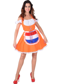 Dirndl jurk oranje