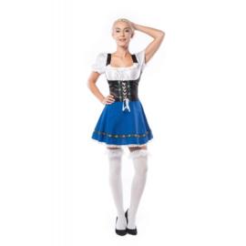 Oktoberfest jurkje sexy blauw