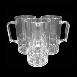 Bierpul 30 cl - Transparant - 6 stuks