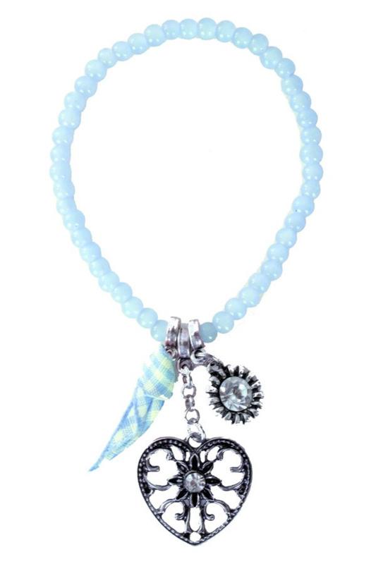 Armband tiroler hart blauw